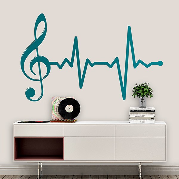 Wall Stickers: Musical cardiogram