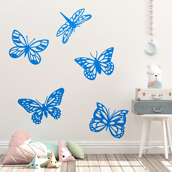 Wall Stickers: Kit tropical butterflies
