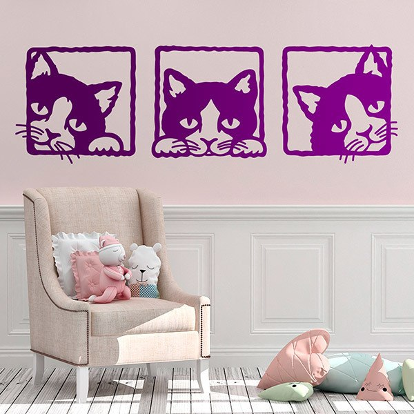 Wall Stickers: 3 kittens