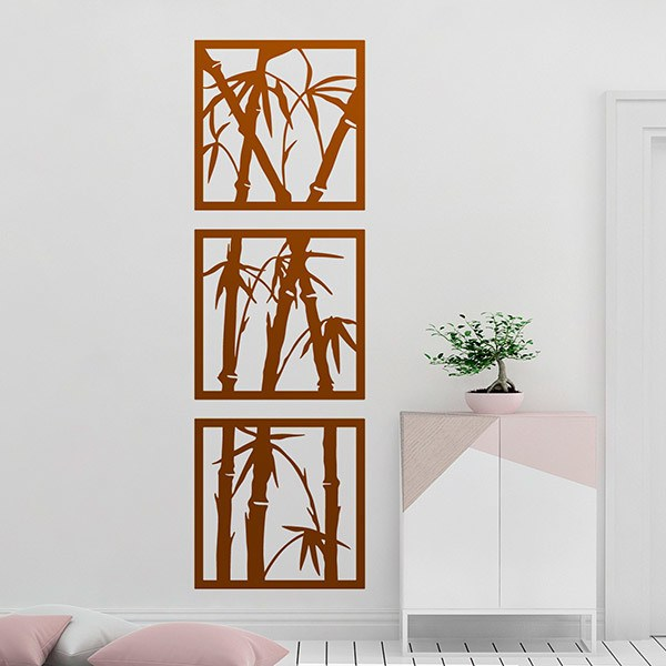 Wall Stickers: 3 pictures of Bamboo