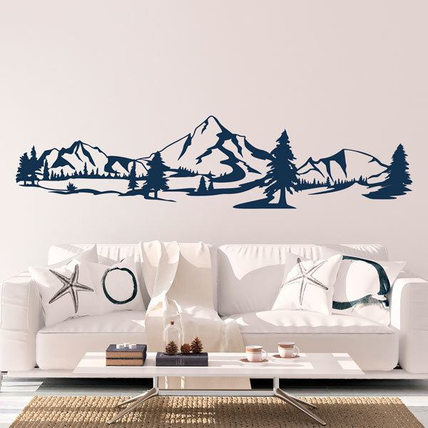Wall Stickers: Mountains and pines