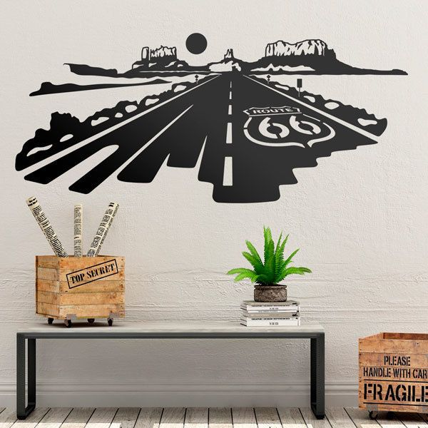 Wall Stickers: Route 66 at sunset