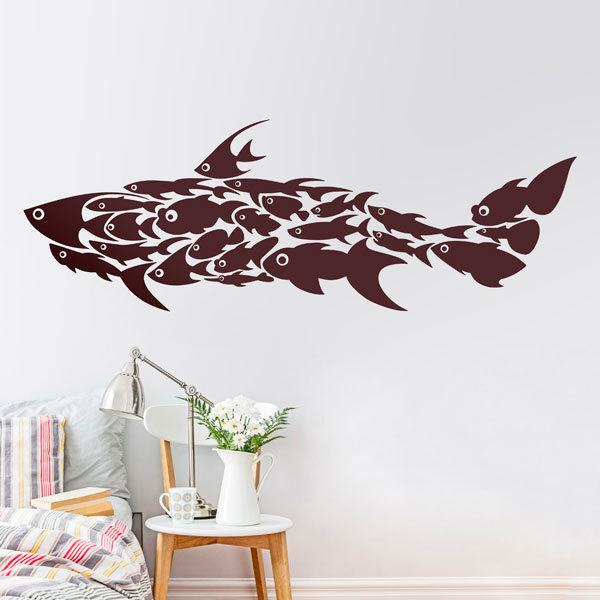 Wall Stickers: Collage fish
