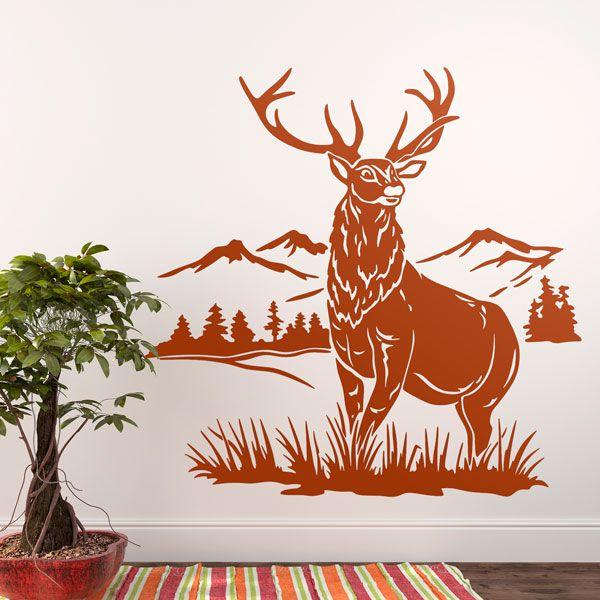 Stag Deer Woodland Animals Wall Sticker WS-44138