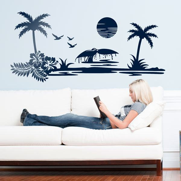 Wall Stickers: Beach landscape
