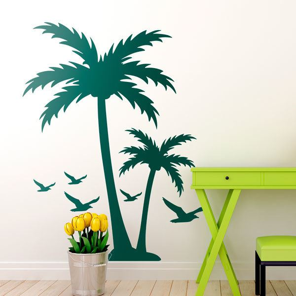 Wall Stickers: Palm trees and seagulls