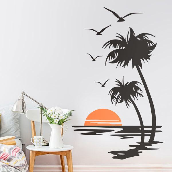Wall Stickers: Sunset from the shore