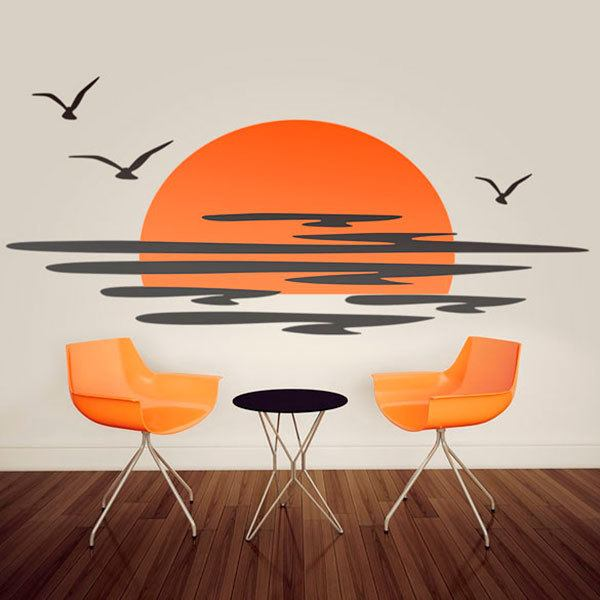 Wall Stickers: Sunset