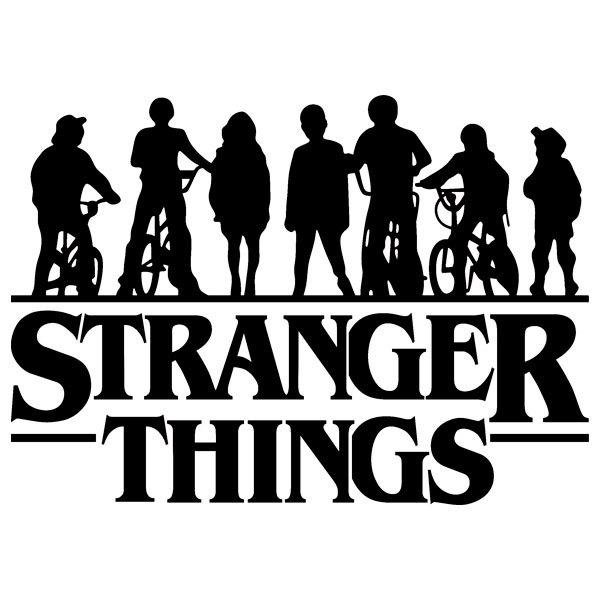 Wall Sticker Silhouettes Stranger Things Muraldecal Com