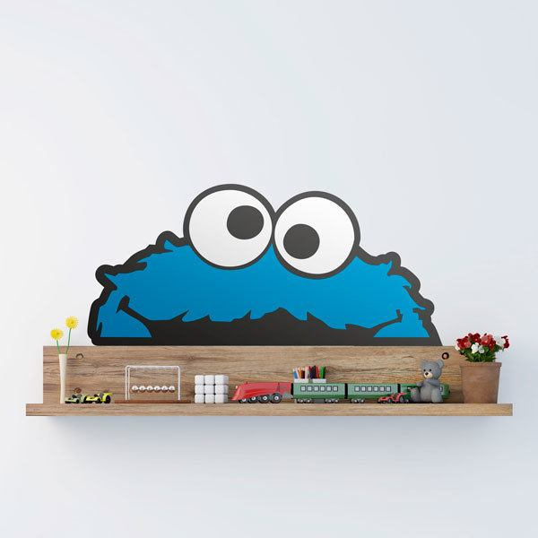 Stickers for Kids: Horizontal biscuit monster