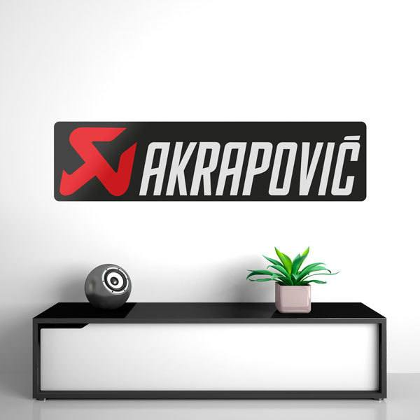 Wall Stickers: Exhaust pipe Akrapovic