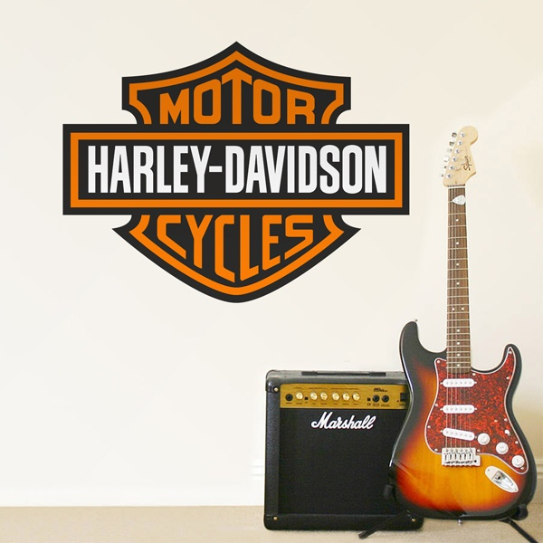 Wall Stickers: Harley Davidson Bigger