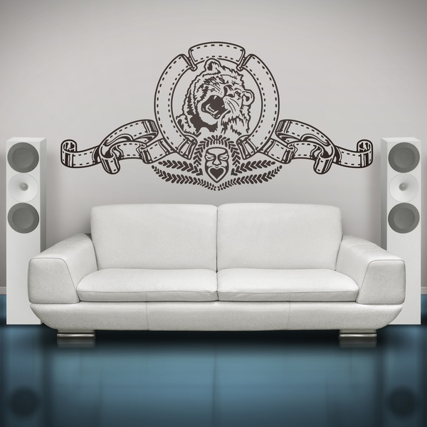 Wall Stickers: Lion of Metro Goldwyn Mayer