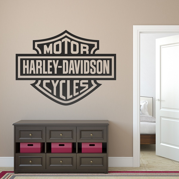 Wall Stickers: Logo Harley Davidson Bigger