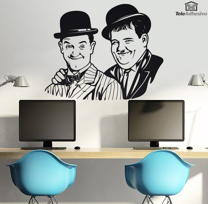 Wall Stickers: Stan Laurel and Oliver Hardy