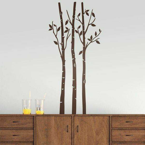 Wall Stickers: Trees in the forest in autumn