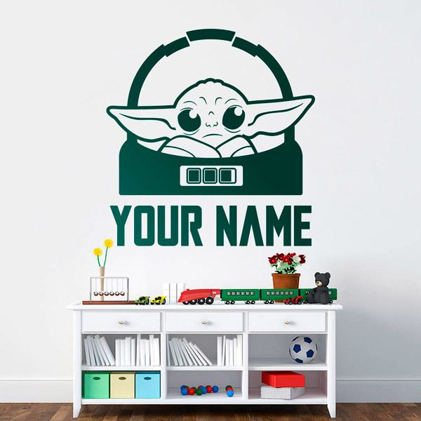 Wall Stickers: Baby Yoda customised