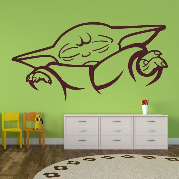 Wall Stickers: Baby Yoda concentrated