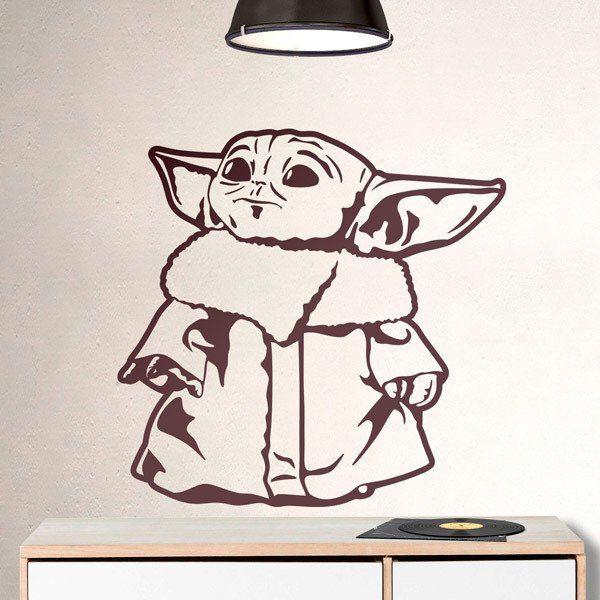 Wall Stickers: Baby Yoda