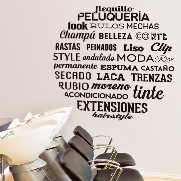 Wall Stickers: Typeface Hairdressing