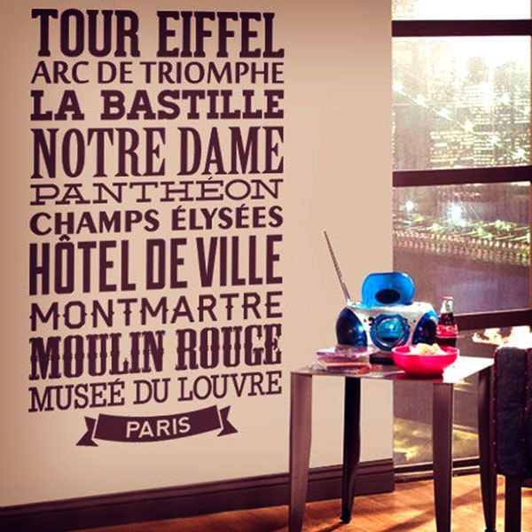 Wall Stickers: Typografic Paris