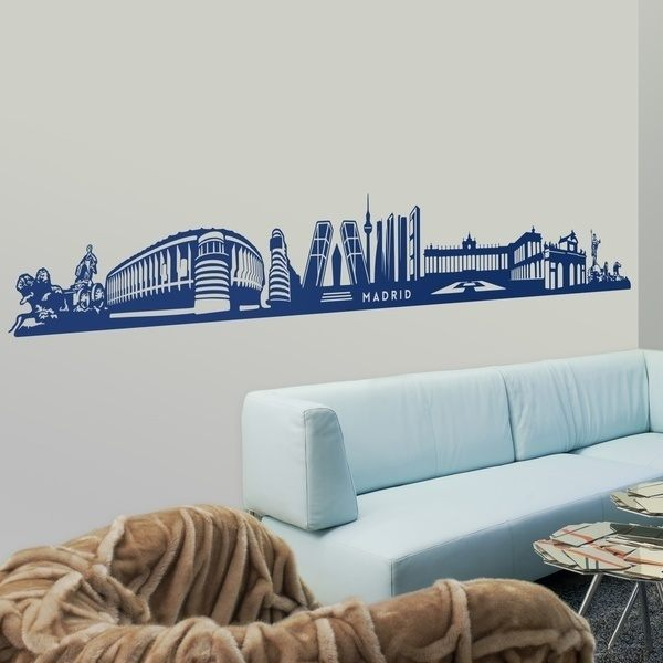 Wall Stickers: Skyline of Madrid 0