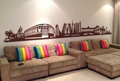 Wall Stickers: Skyline of Madrid 2