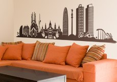 Wall Stickers: Barcelona Skyline 2