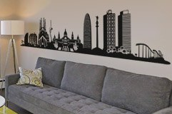 Wall Stickers: Barcelona Skyline 4