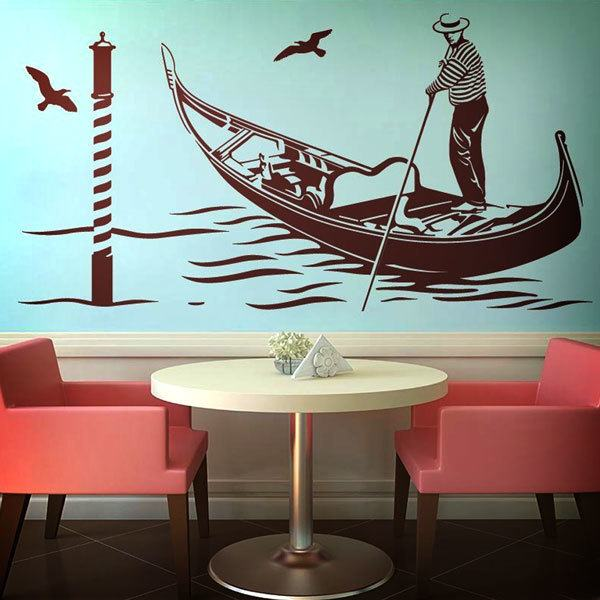 Wall Stickers: Gondolier