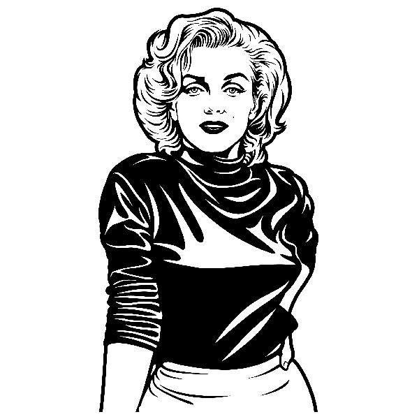 4c52783eae1416 Wall Stickers  Marilyn Monroe