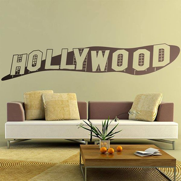 Wall Stickers: Hollywood sign