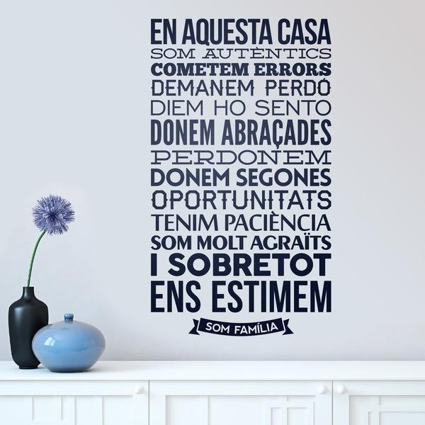 Vinil decoratiu tipogr fic de frases en catal en aquesta - Amor en catalan ...