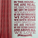 Wall Stickers: In this house we are real... 2