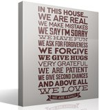 Wall Stickers: In this house we are real... 3