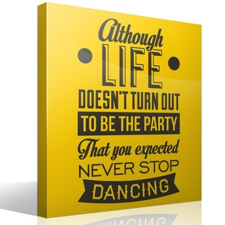Wall Stickers: Never stop dancing