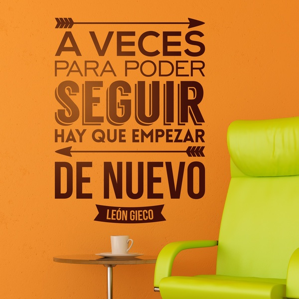 Wall Stickers: A veces para poder seguir...