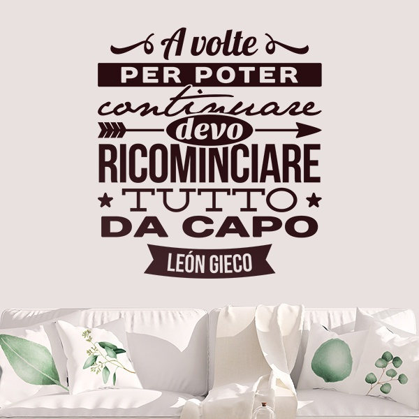 Wall Stickers: A volte per poter continuare...