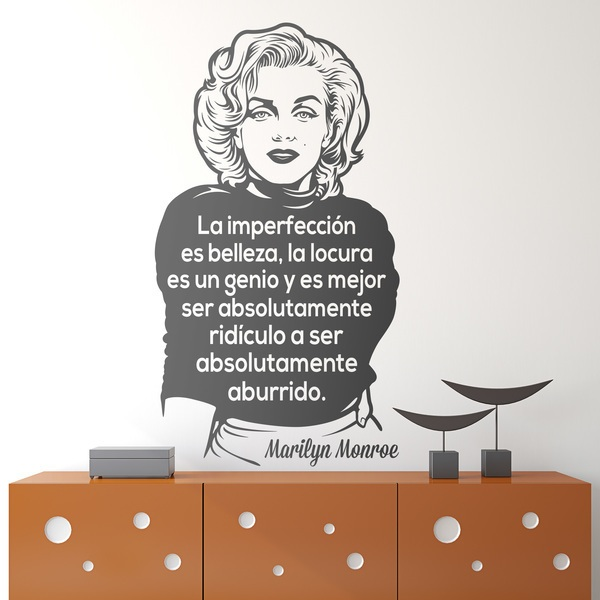 Wall Stickers: La imperfección es belleza... Marilyn Monroe