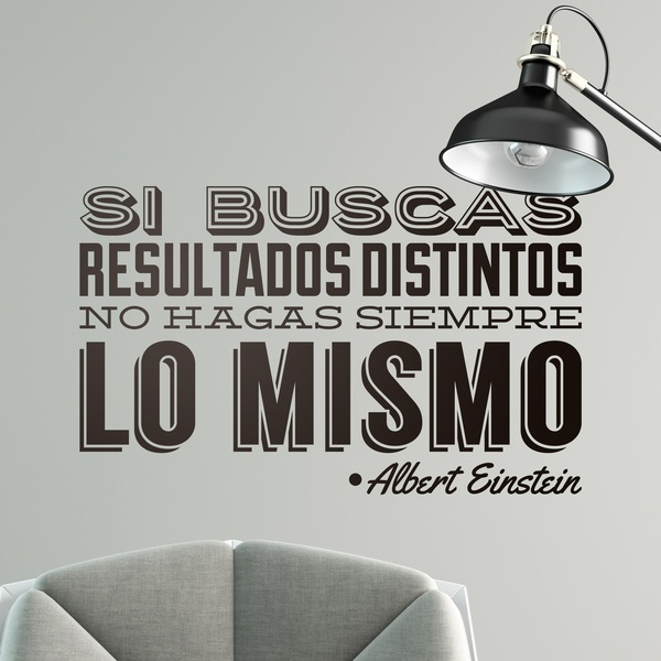 Wall Stickers: Si buscas resultados distintos...