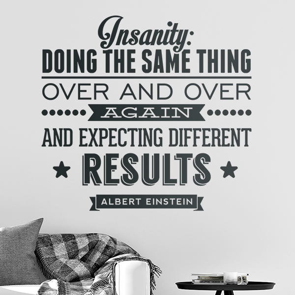 Wall Stickers: Insanity quote