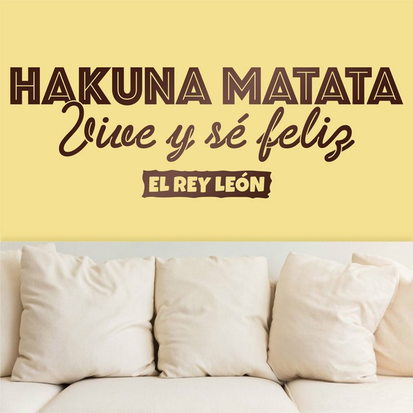 Wall Stickers: Hakuna Matata, in Spanish
