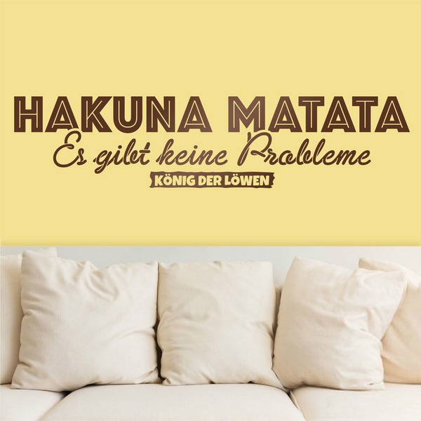 Wall Stickers: Hakuna Matata in German