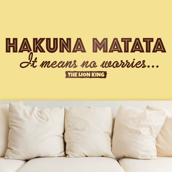 Wall Stickers: English Hakuna Matata