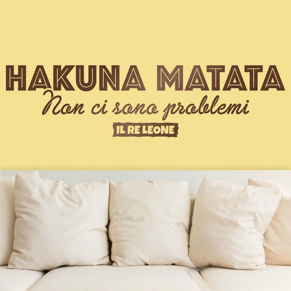 Wall Stickers: Hakuna Matata in Italian