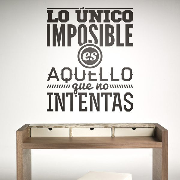 Wall Stickers: Lo único imposible es...
