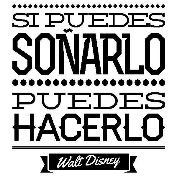 Wall Sticker Si Puedes Soñarlo Muraldecalcom