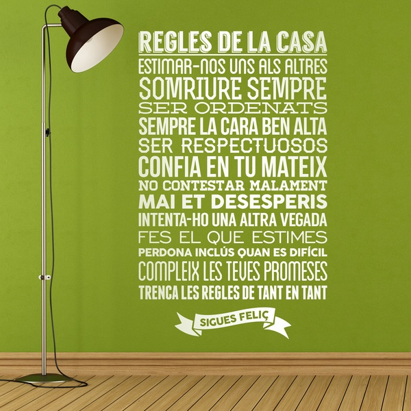 Wall Stickers: Regles de la casa