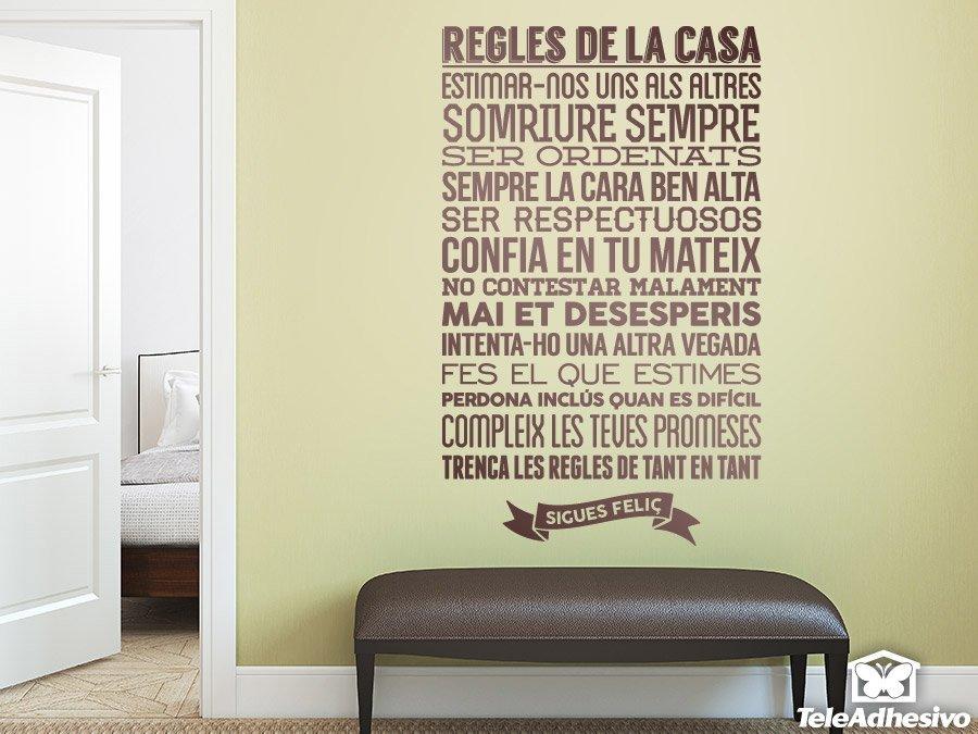 Wall Stickers: Regles De La Casa