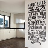 Wall Stickers: House Rules 2